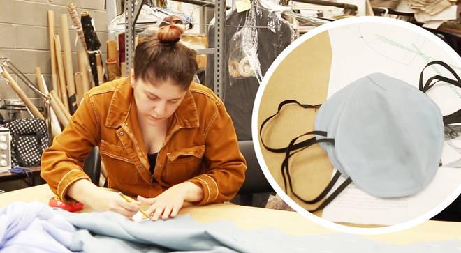 Opera costume shop staff craft medical masks