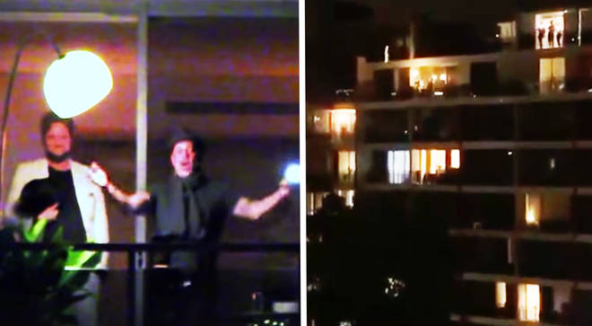 Self-isolating opera singers belt out Australian anthem over the rooftops