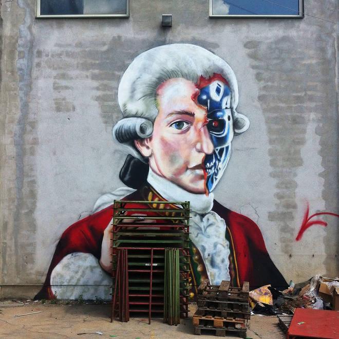 Mozart street art