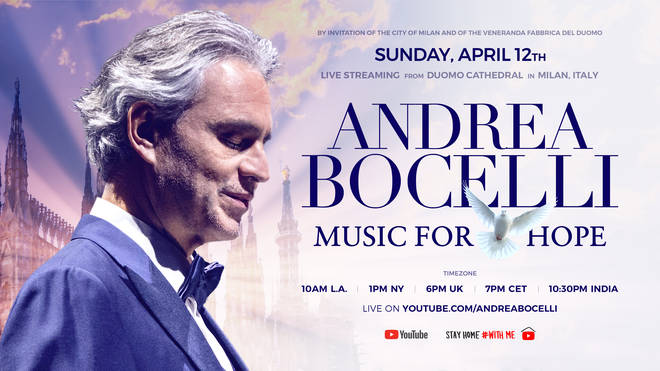 Andrea Bocelli's 'Music for Hope' streams this Easter Sunday