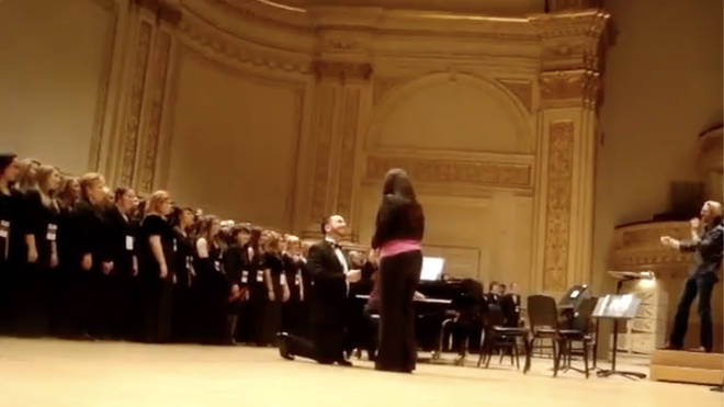 Proposal at an Eric Whitacre concert