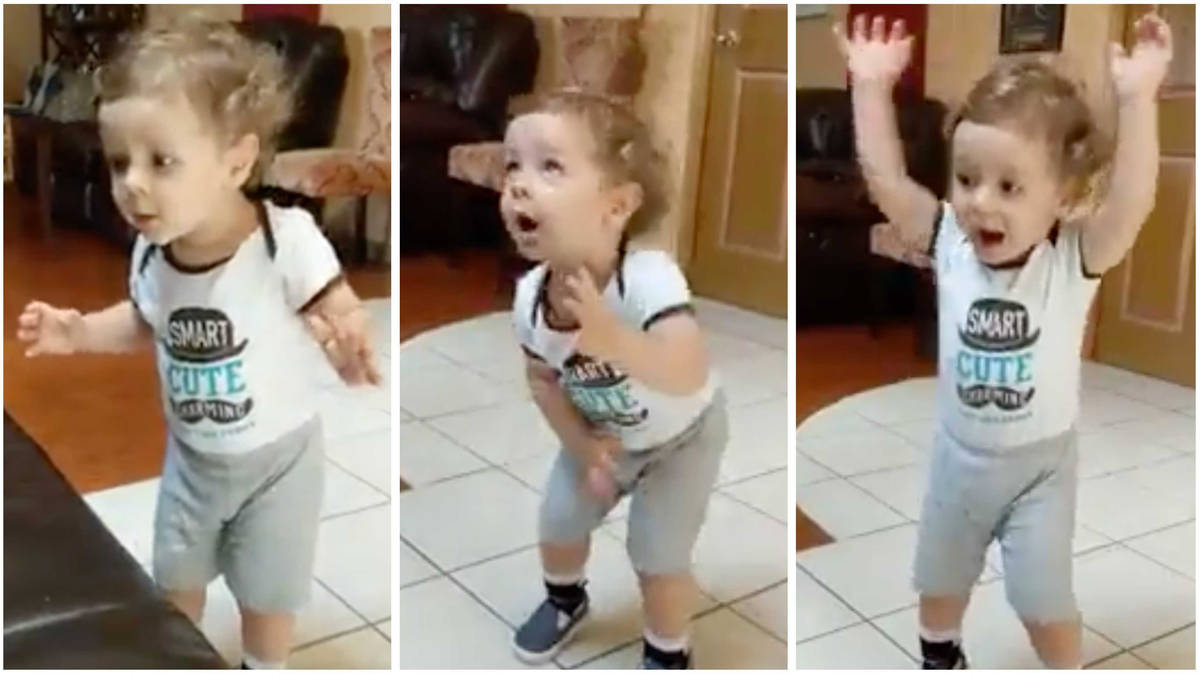 Tiny toddler conducting to a Borodin opera will cheer you up no end