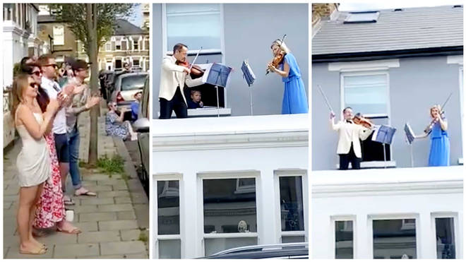 NHS doctor and husband serenade locked down neighbours with beautiful violin duet