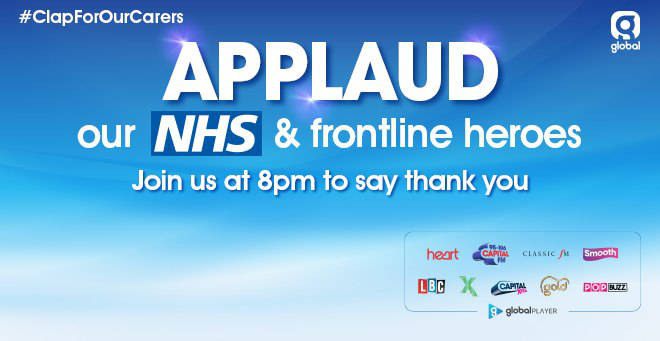 Join us as we applaud our NHS and frontline heroes