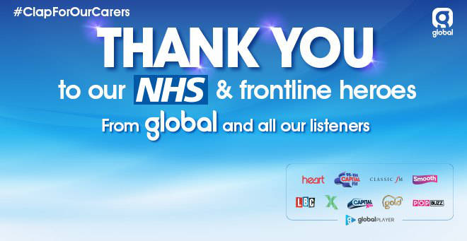 Thank you to the NHS and other frontline heroes