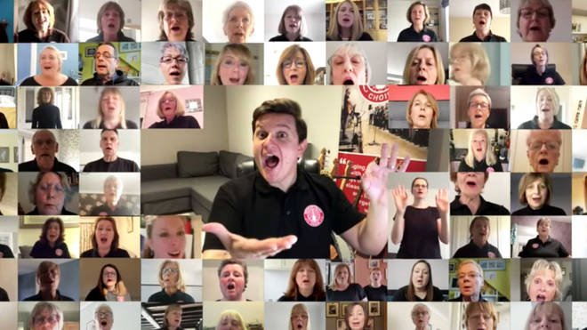 Lockdown choir sings 'Stand By Me' to raise £1 million for the NHS