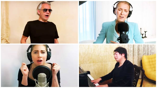 Lang Lang, Andrea Bocelli, Lady Gaga and Celine Dion team up for powerful 'One World' performance