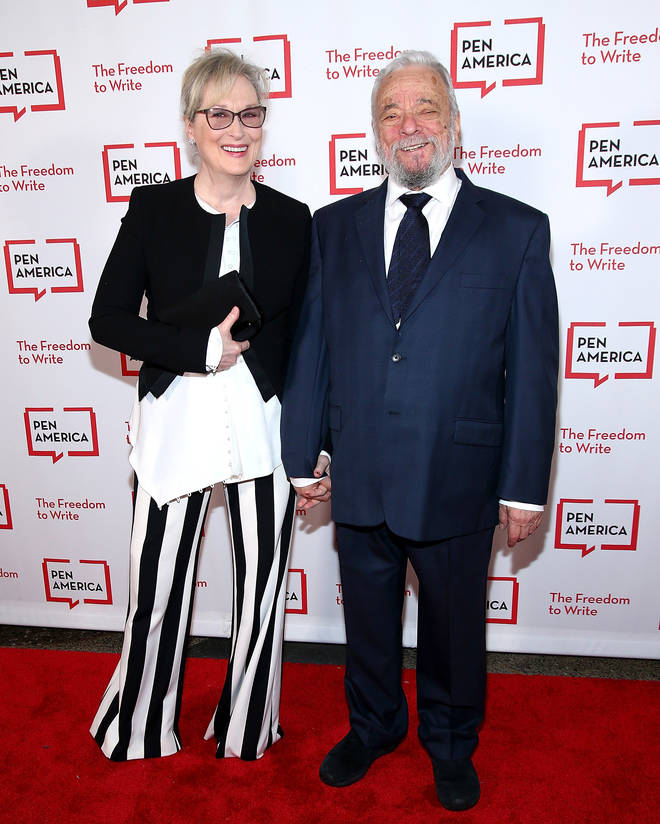 Stephen Sondheim and Meryl Streep attend a literary event in New York