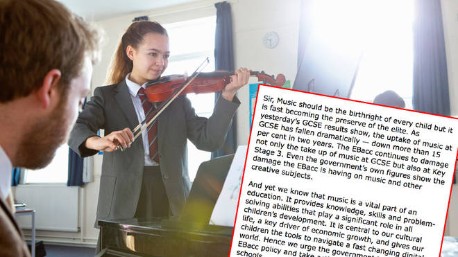 The number of pupils studying music at GCSE continues to fall