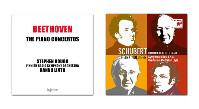 Beethoven Piano Concertos – Stephen Hough; Schubert Symphonies – Basel Chamber Orchestra