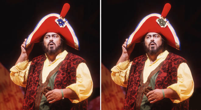 Pavarotti performs in 'L'Elisir d'Amore'