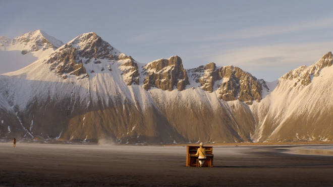 A solo piano on the deserted shores of Iceland. We all need this beauty.