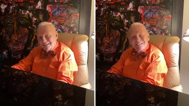 Sir Anthony Hopkins is hosting Instagram Lives from his piano