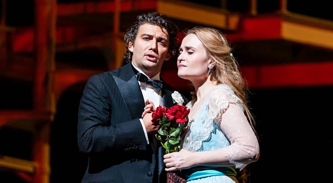 Jonas Kaufmann and Marina Poplavskaya perform in the Met Opera's production of 'Faust'