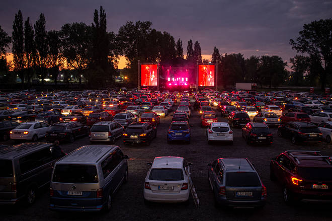 Drive-in concert in the Czech Republic
