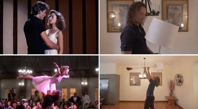 Professional choreographer recreates iconic Dirty Dancing scene using household lamp