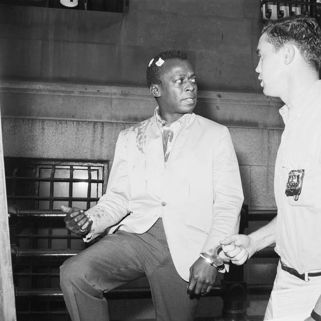 Miles Davis in a New York courtroom in 1959