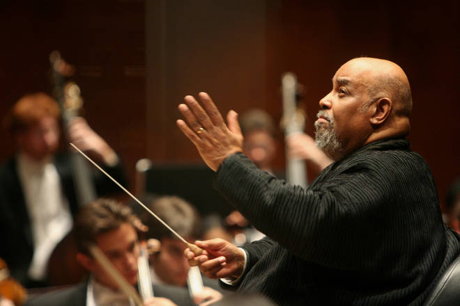 James DePriest conducting the Juilliard Orchestra in 2006