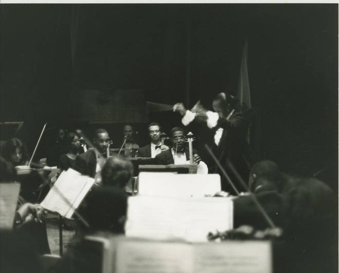 Yvette Devereaux, the first African American woman to conduct the LA Phil