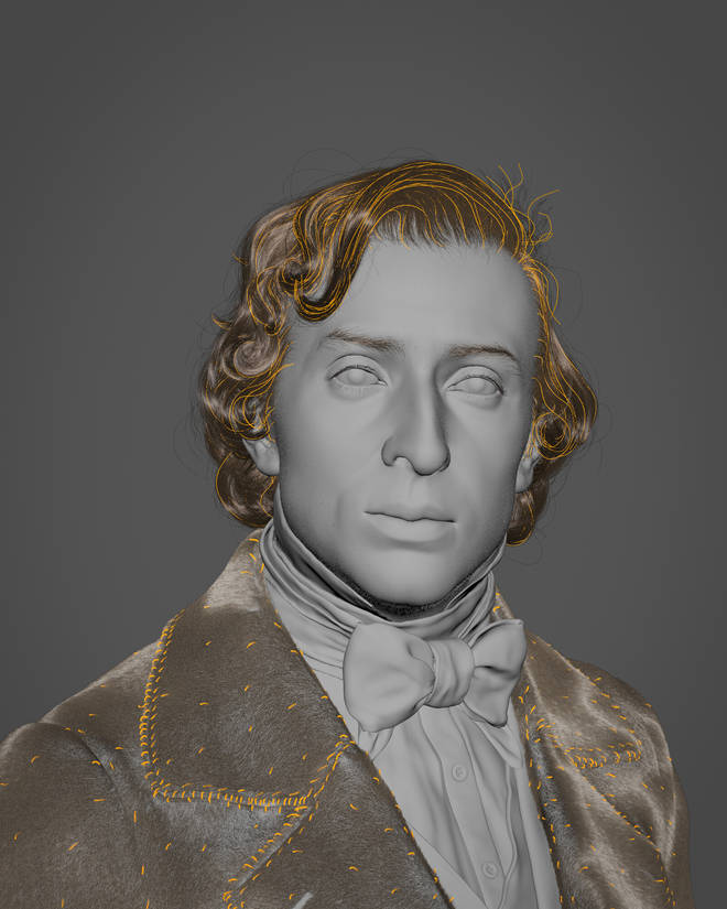 Chopin sculpted from death mask