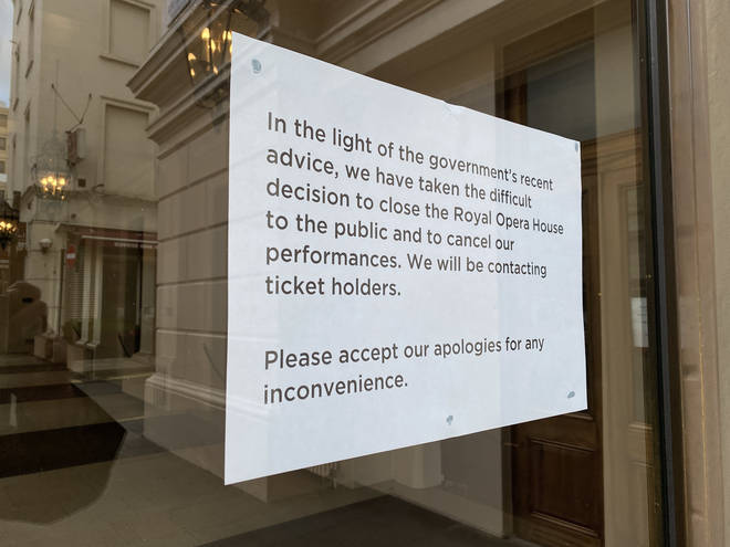 Coronavirus precautions closed the Royal Opera House in March