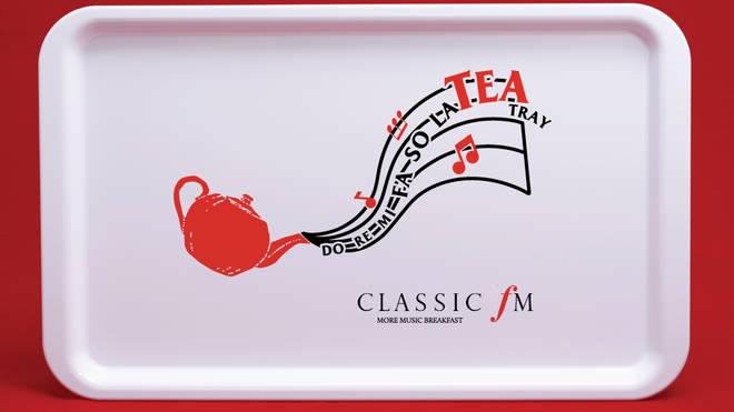 Classic FM 'Do Re Mi Fa So La TEA' Tray raising money for our charity, Global's Make Some Noise.