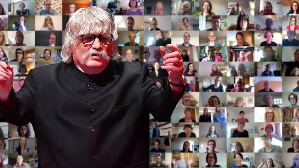 sur YT:  Une chorale virtuelle rejoint des chanteurs avec le compositeur Karl Jenkins pour une représentation en masse de …  infos