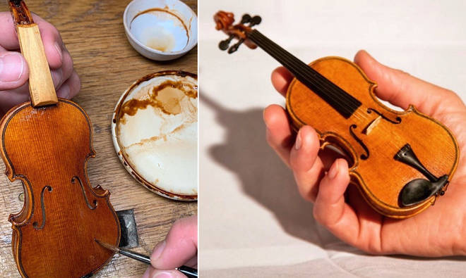 This luthier has been making tiny violins during lockdown