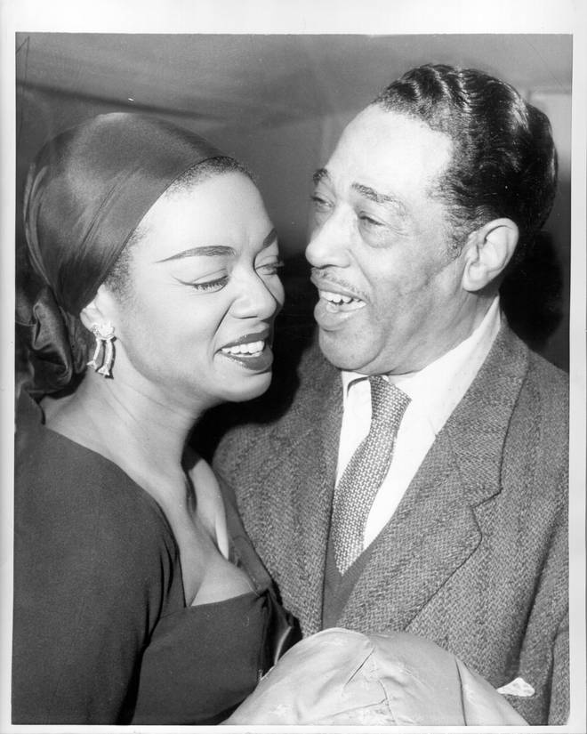 Hazel Scott pictured with Duke Ellington