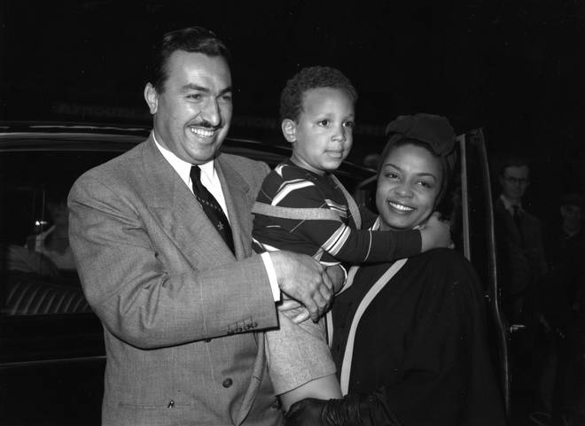 Hazel Scott with Adam Clayton Powell and their son