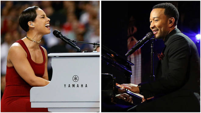 Alicia Keys and John Legend to play in a piano battle