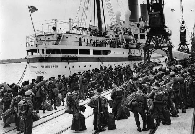 The arrival of the Empire Windrush
