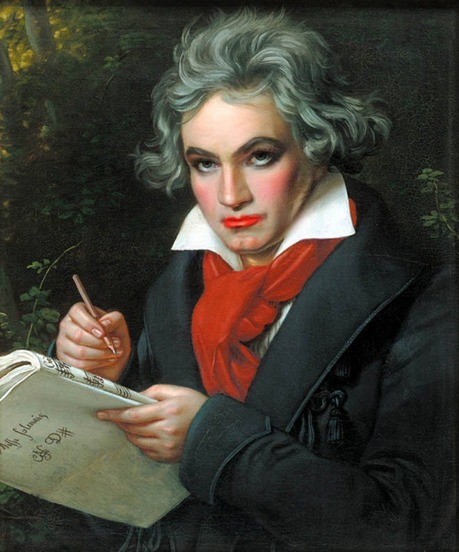 Beethoven with makeup