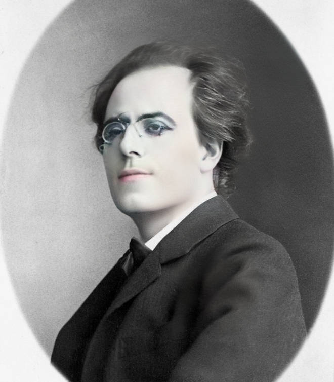 Gustav Mahler with makeup
