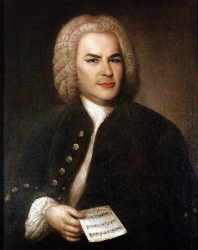 Bach with makeup