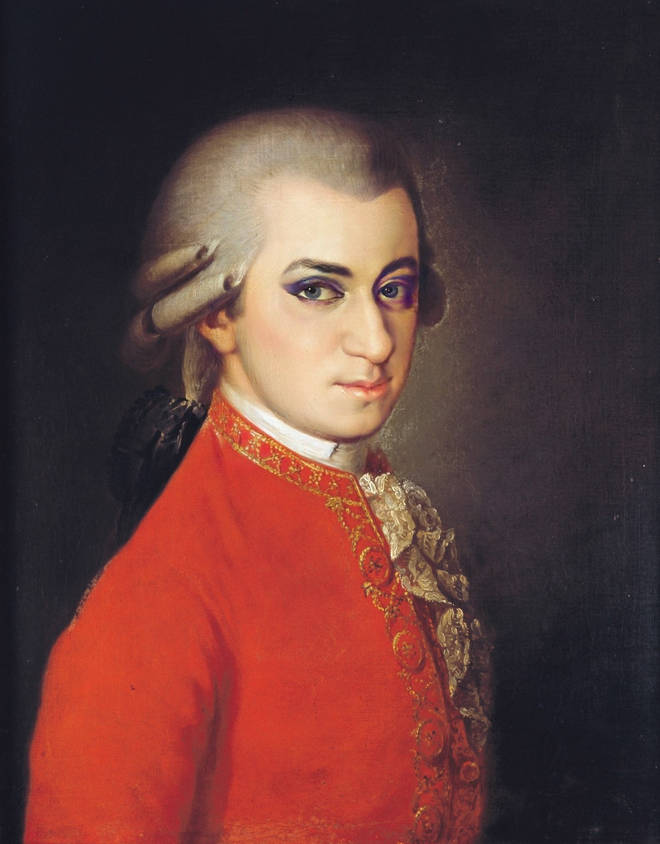 Mozart with makeup