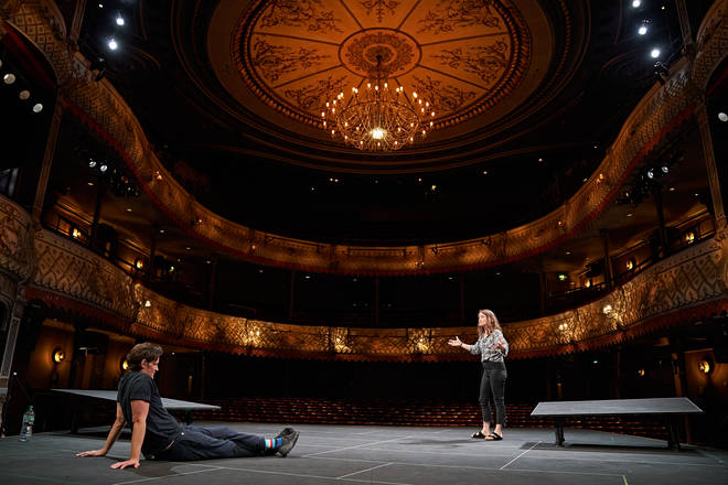 Matt Smith and Claire Foy rehearse at The Old Vic