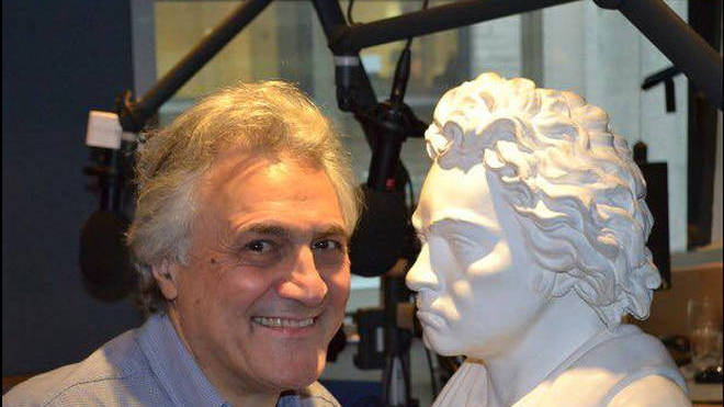 Which one's which? John Suchet with his composer doppelgänger, Beethoven.