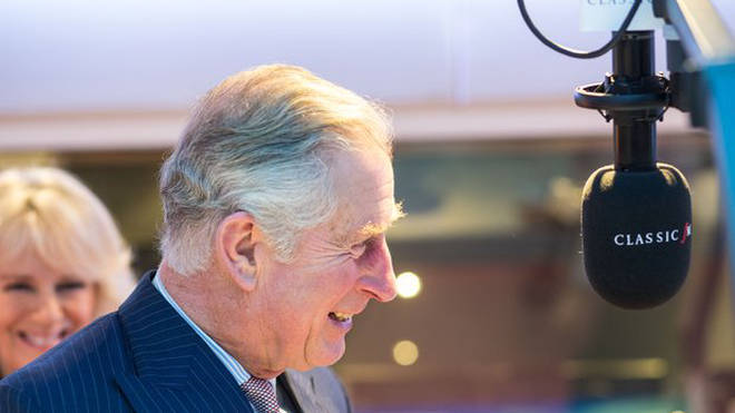 HRH The Prince of Wales in the Classic FM studio.