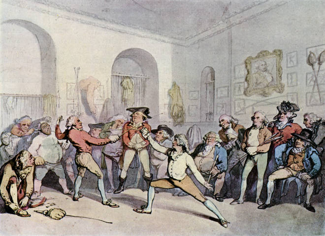 The Chevalier was a champion fencer