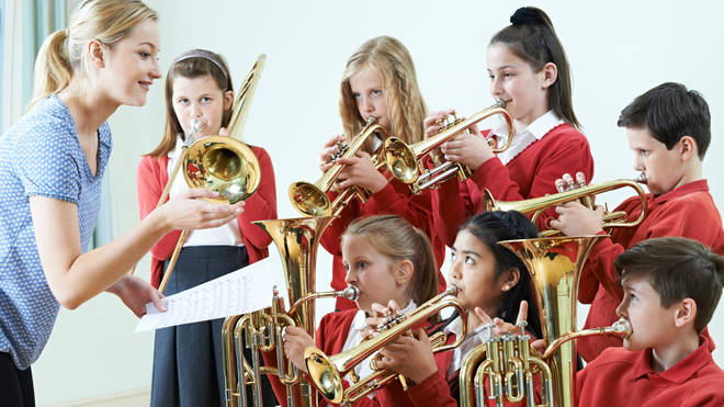 No playing brass instruments in larger groups