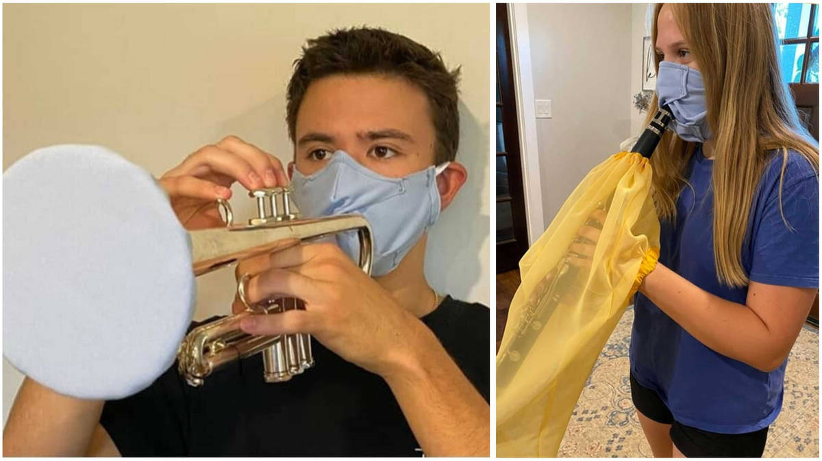 Someone is designing bespoke masks for brass and woodwind players to stay safe amid coronavirus
