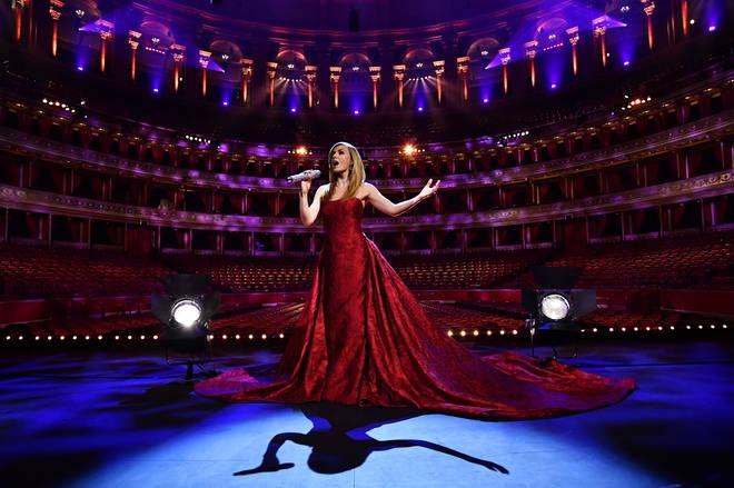 Jenkins sang to an empty Royal Albert Hall