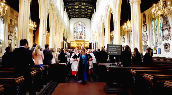 St. Margaret's Church and choir, London