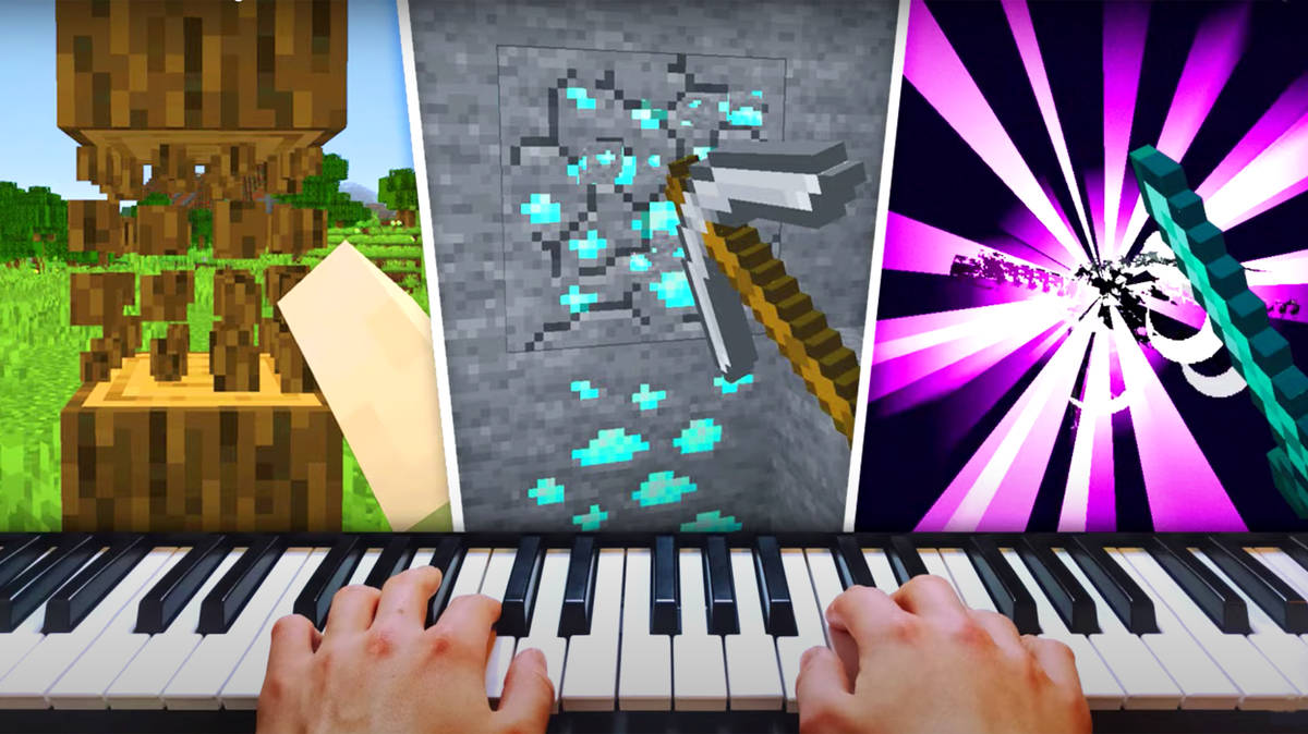 Video game pro uses a piano as a controller, completes 'Minecraft'