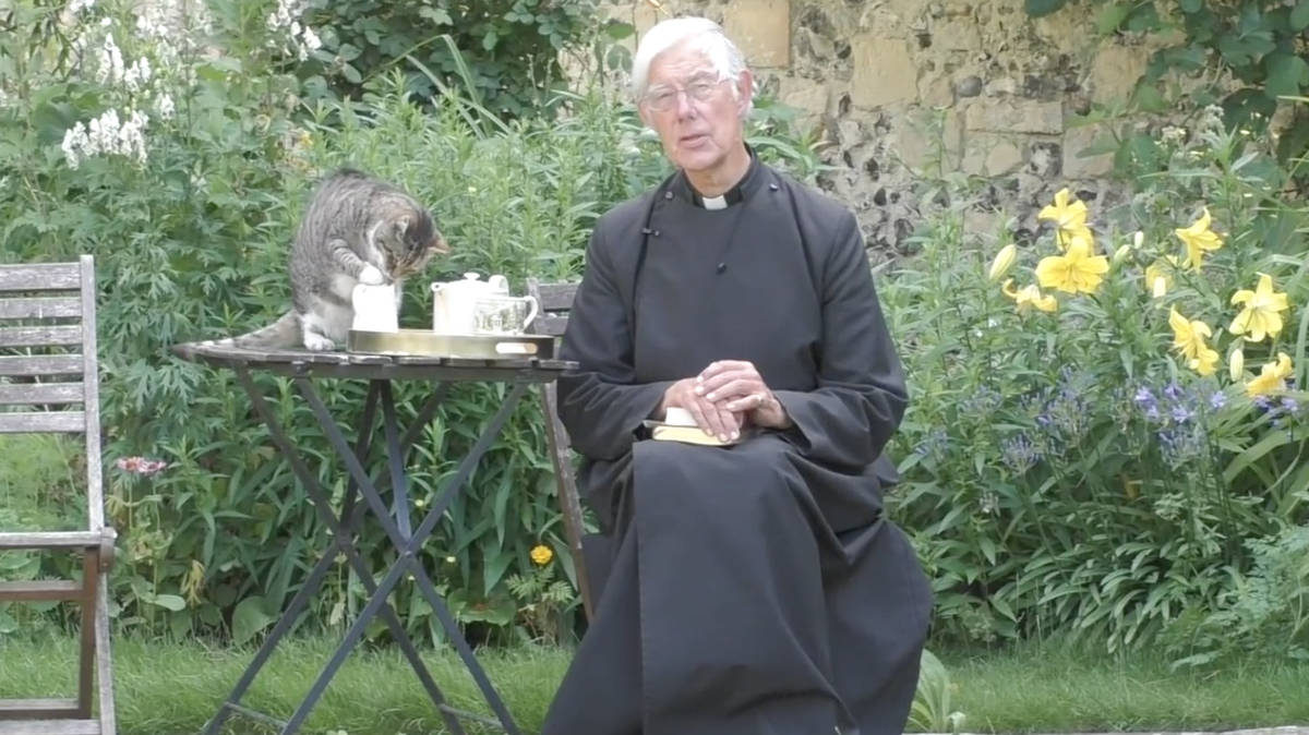 Clerical cat drinks Dean of Canterbury's milk during online prayer service