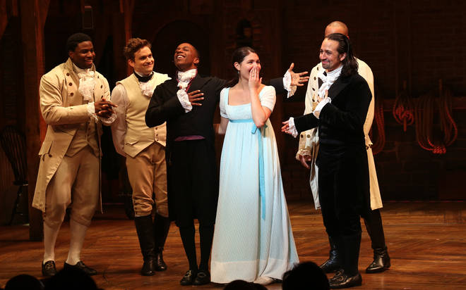 Why does Phillipa Soo gasp at the end of Hamilton?