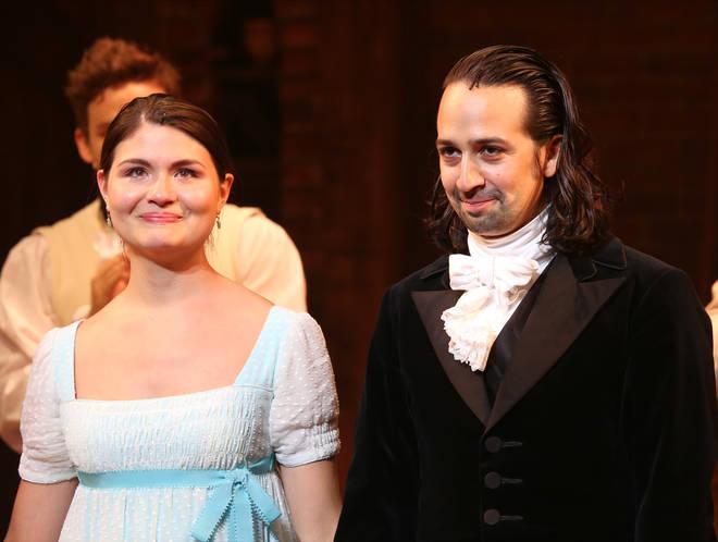 Phillipa Soo (Eliza) and Lin-Manuel Miranda (Hamilton)