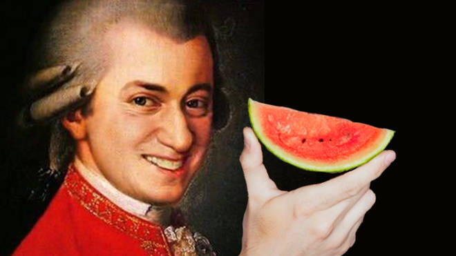 One farmer thinks playing classical music helps his watermelons grow
