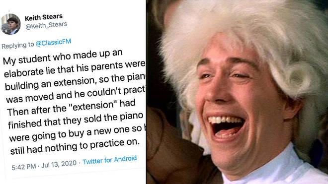 Music teachers share best excuses for not practising